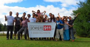 Schiste 911 means Shale 911, the emergency number people in Quebec can call to mobilize the anti-fracking resistance groups when the industry shows up in their backyards.